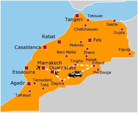 Marocco Cartina Stradale.Todra Viaggi Vacanze Offerte Hotel Circuiti Soggiorni Tour Operator